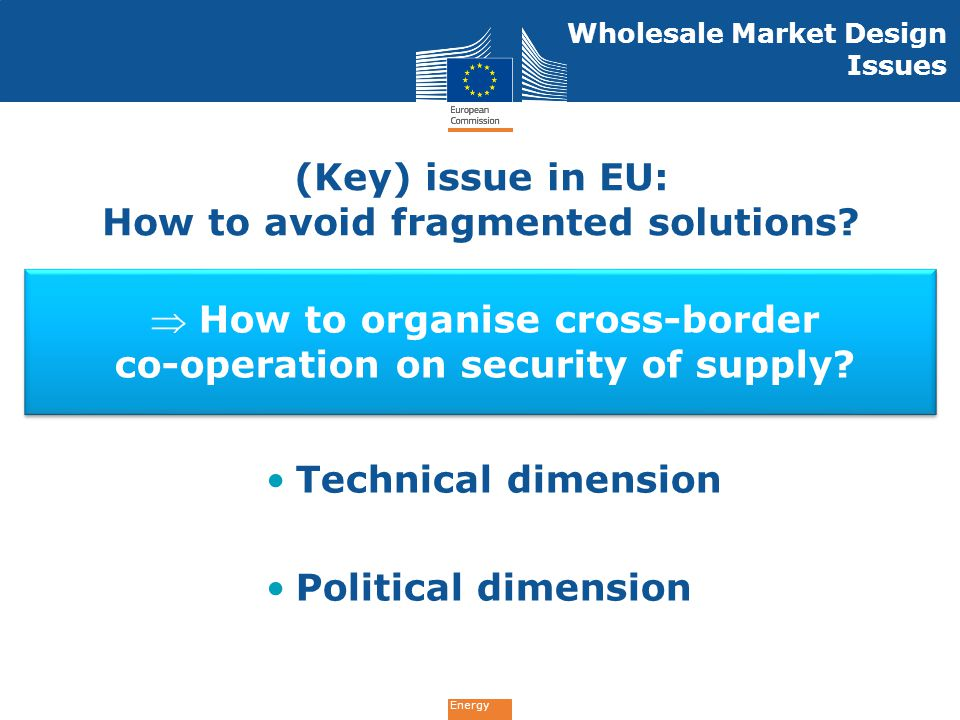 (Key) issue in EU: How to avoid fragmented solutions