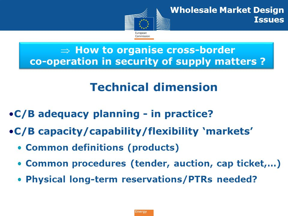 Technical dimension How to organise cross-border