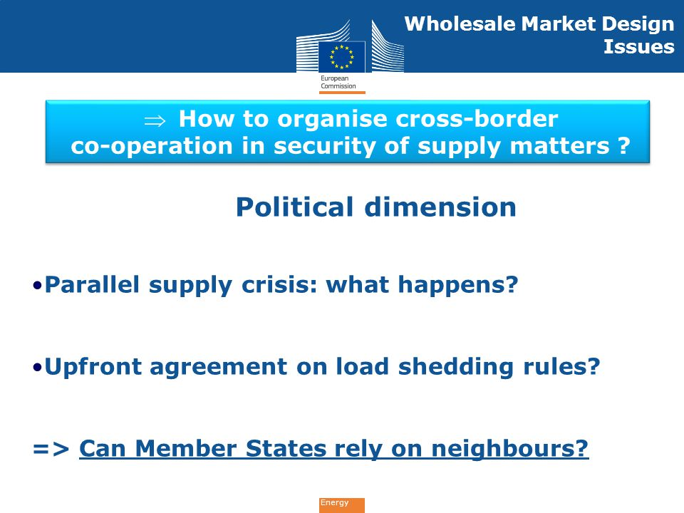Political dimension How to organise cross-border
