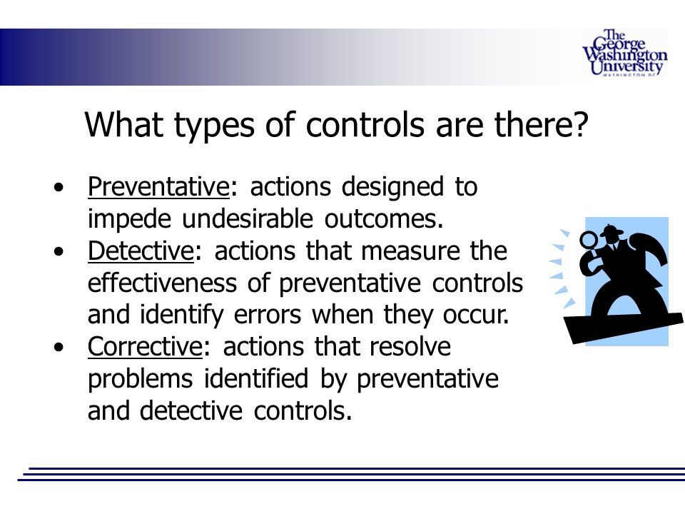 What types of controls are there
