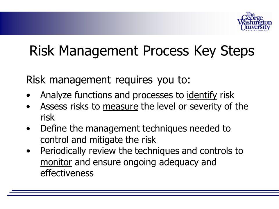 Risk Management Process Key Steps