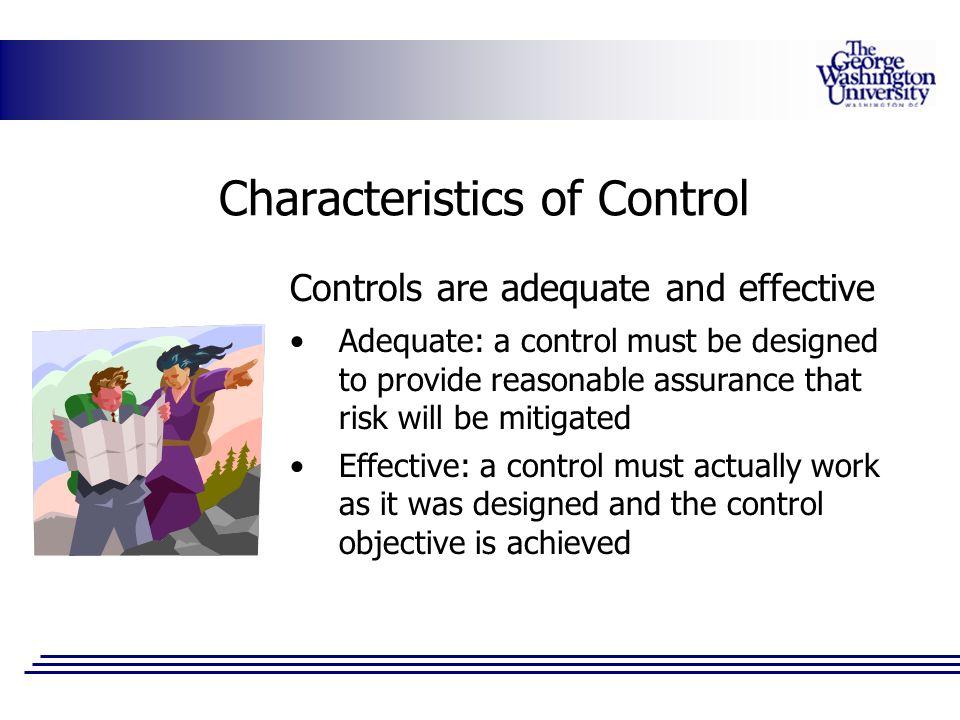 Characteristics of Control