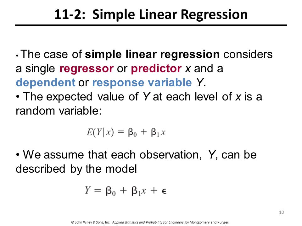 11-2: Simple Linear Regression