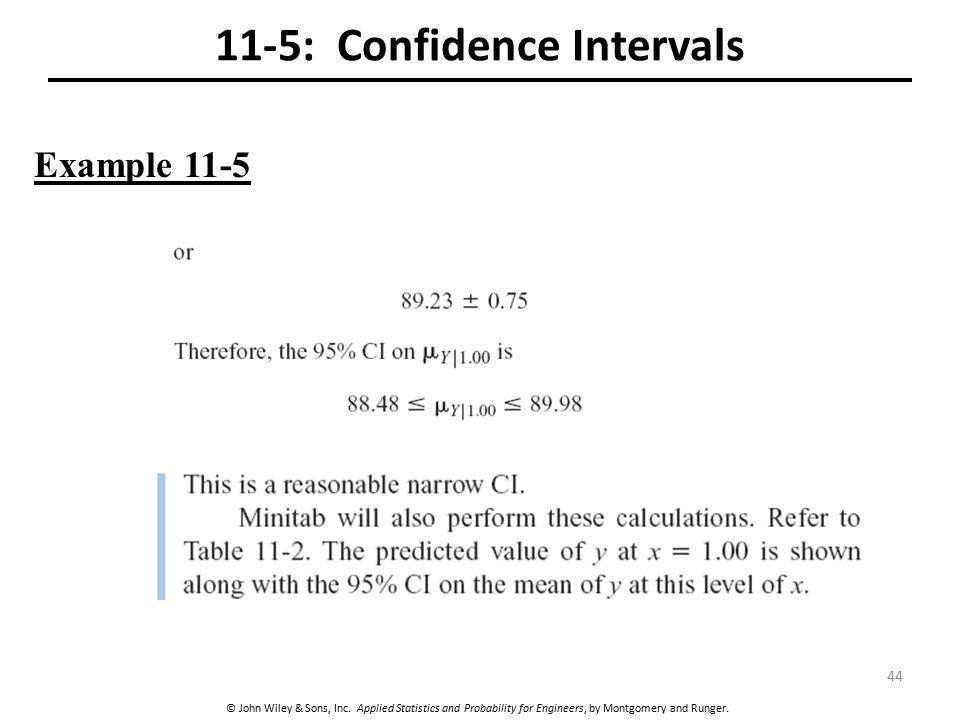 11-5: Confidence Intervals