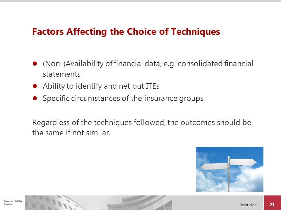 Factors Affecting the Choice of Techniques