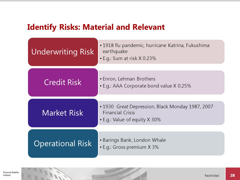 Identify Risks: Material and Relevant