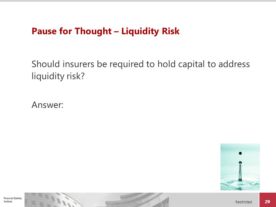 Pause for Thought – Liquidity Risk