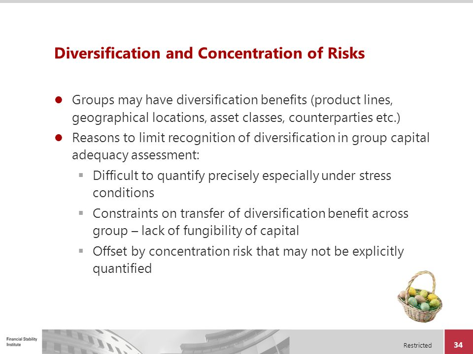 Diversification and Concentration of Risks