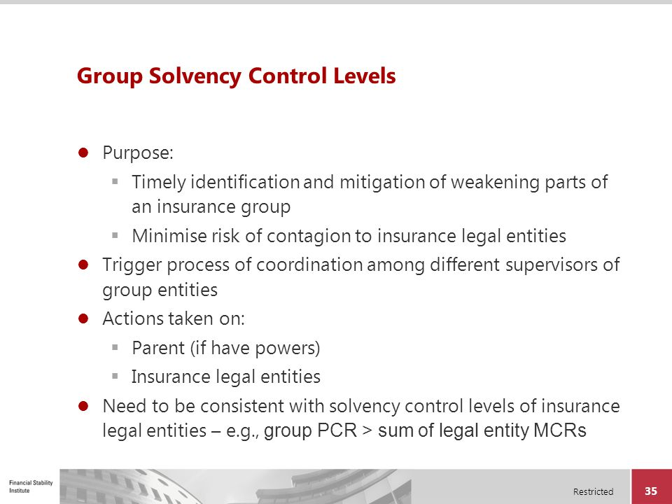 Group Solvency Control Levels