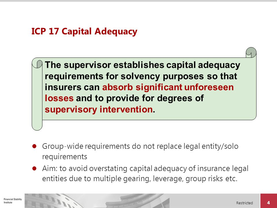 ICP 17 Capital Adequacy