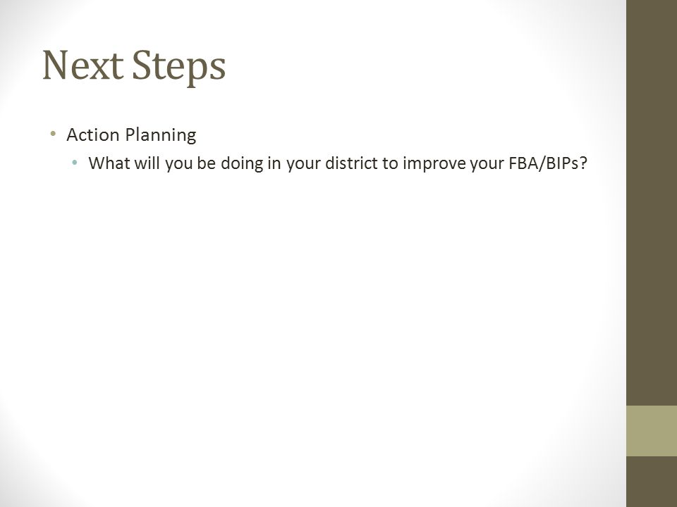 Next Steps Action Planning