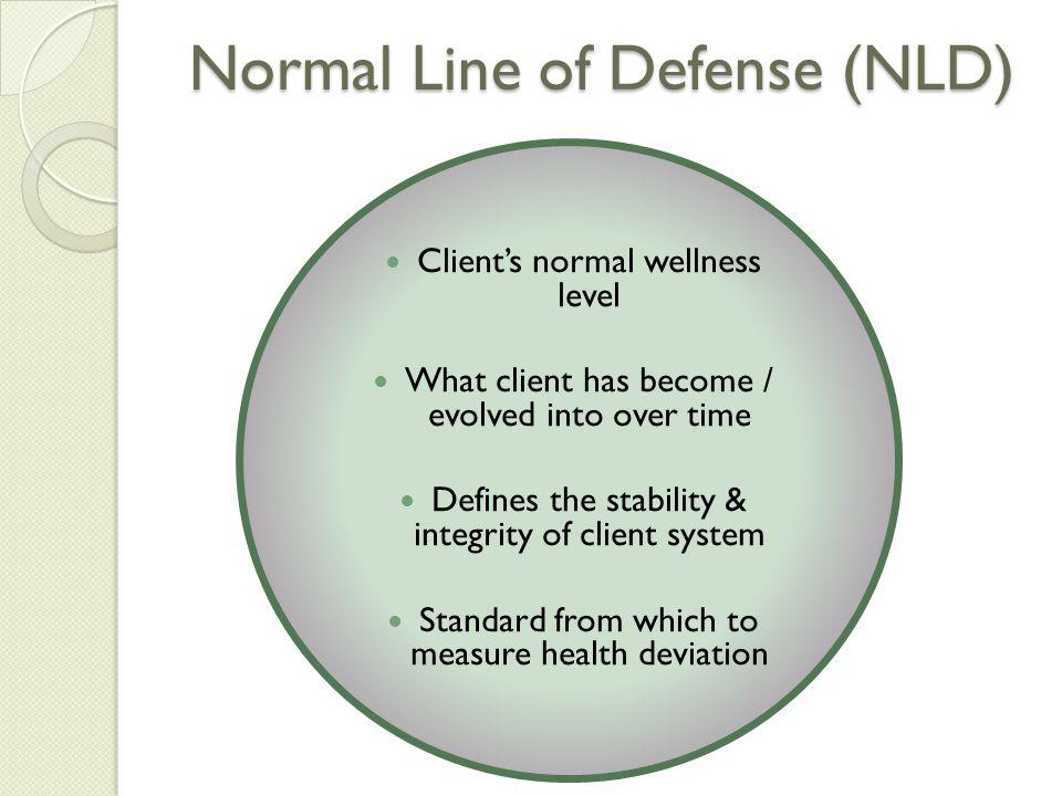 Normal Line of Defense (NLD)