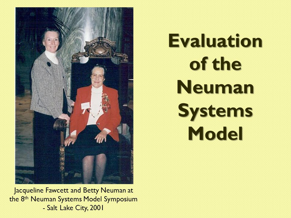 Evaluation of the Neuman Systems Model