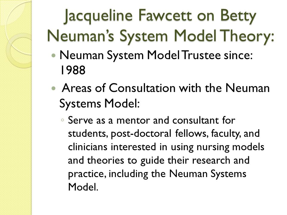 Betty Neuman Systems Model Theory