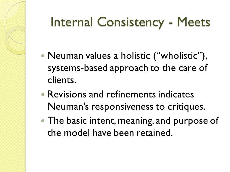 Internal Consistency - Meets