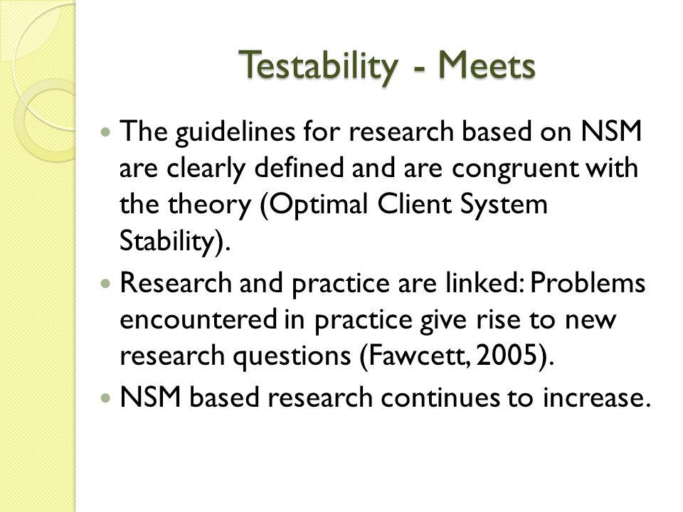 Testability - Meets