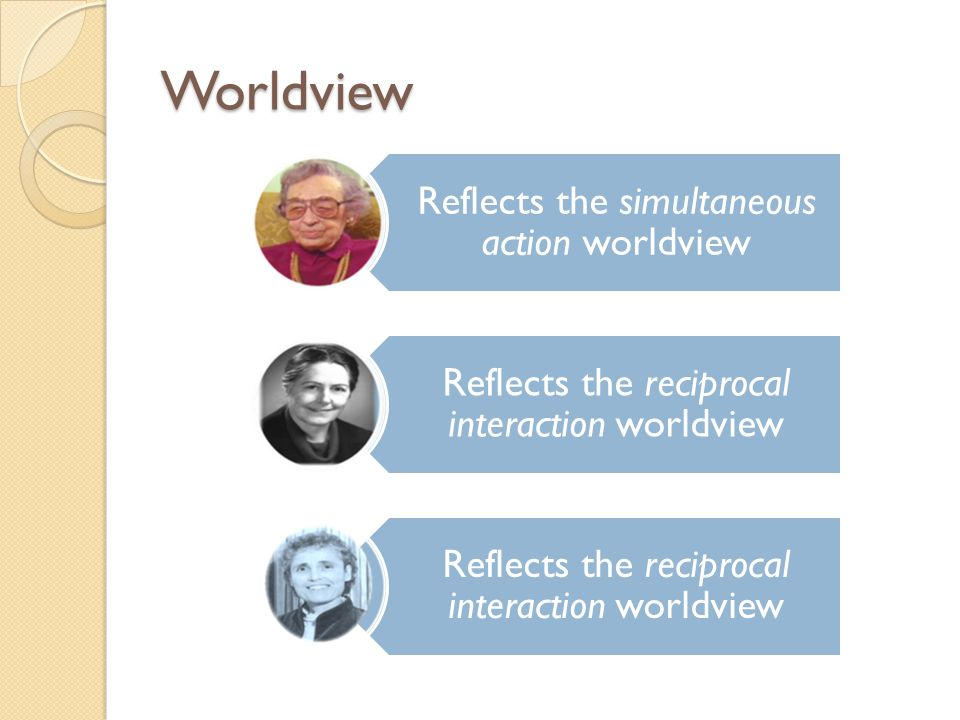 Worldview Reflects the simultaneous action worldview