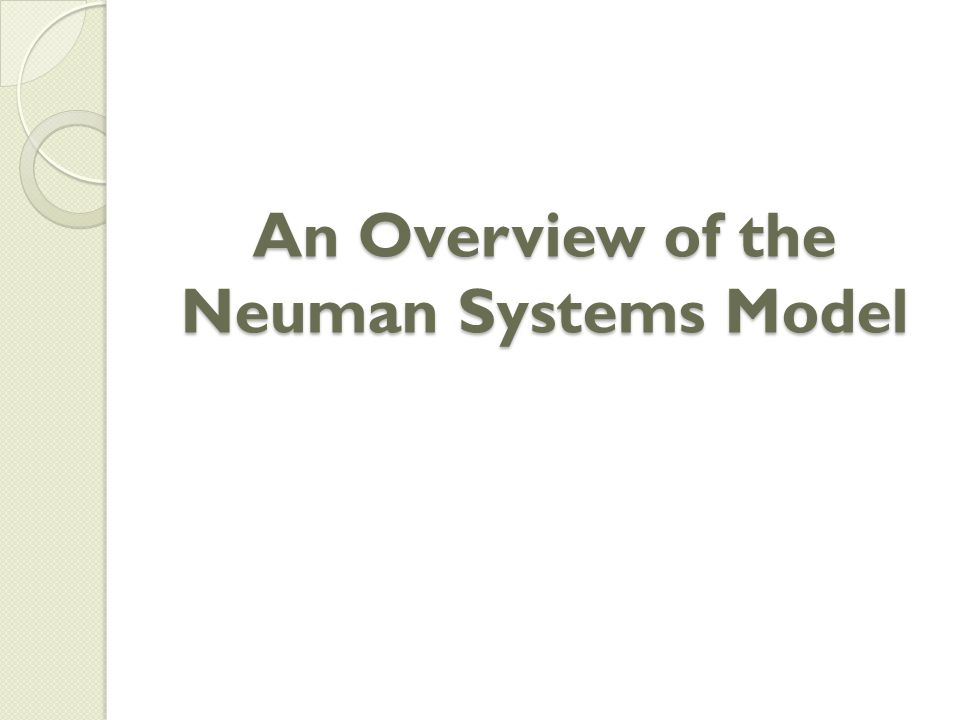 An Overview of the Neuman Systems Model