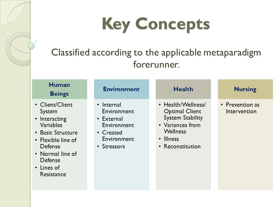 Classified according to the applicable metaparadigm forerunner.