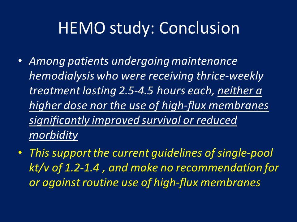 HEMO study: Conclusion