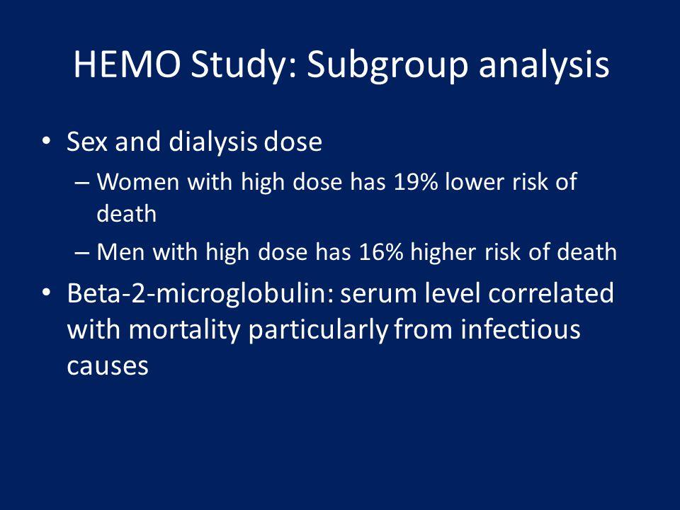HEMO Study: Subgroup analysis