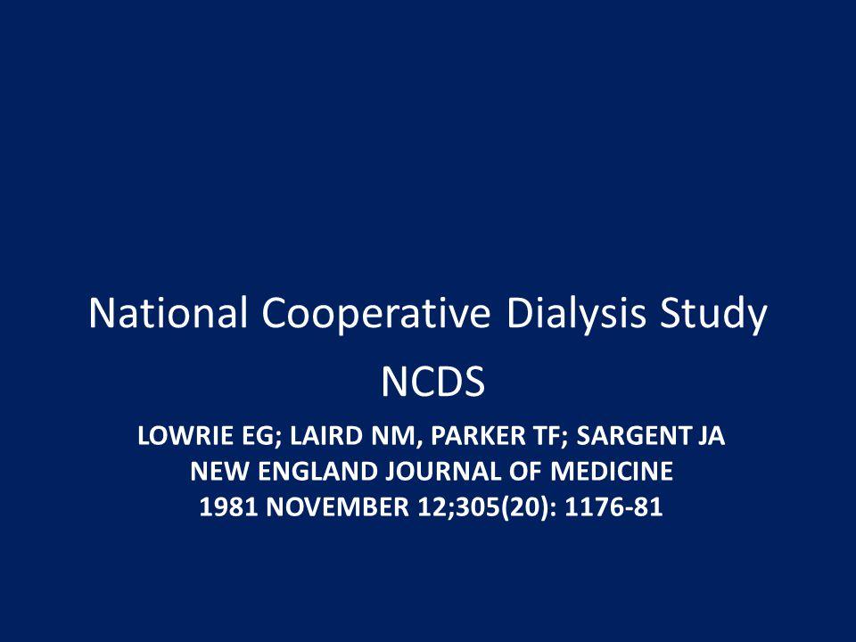 National Cooperative Dialysis Study