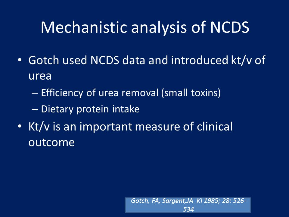 Mechanistic analysis of NCDS