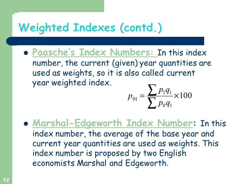 Weighted Indexes (contd.)