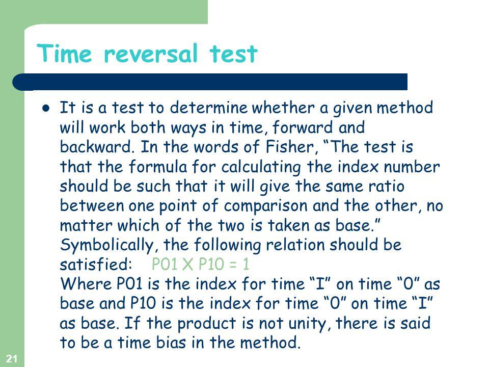 Time reversal test
