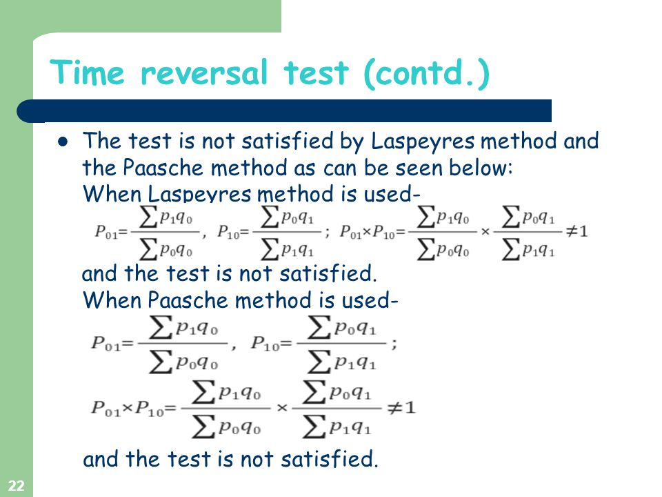 Time reversal test (contd.)