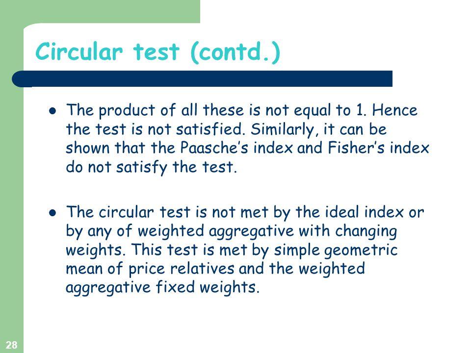 Circular test (contd.)