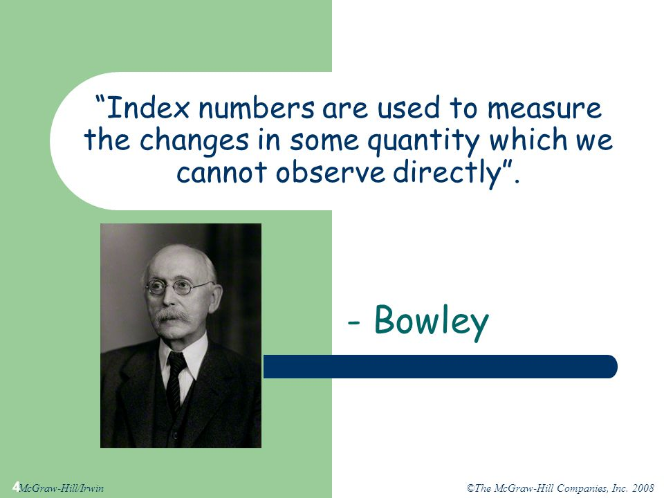 Index numbers are used to measure the changes in some quantity which we cannot observe directly .
