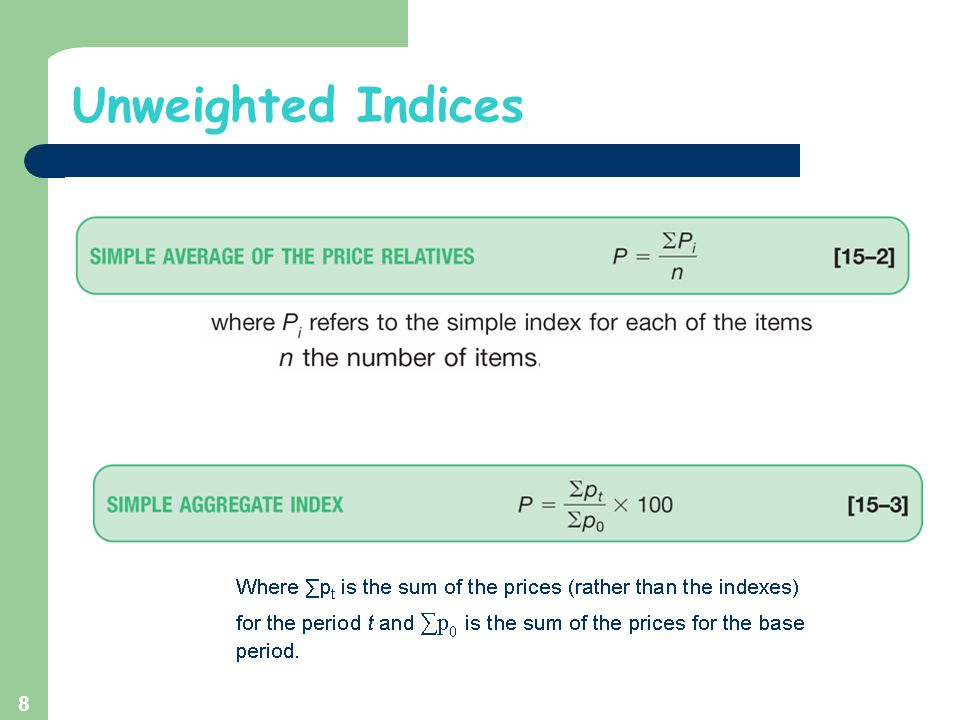 Unweighted Indices