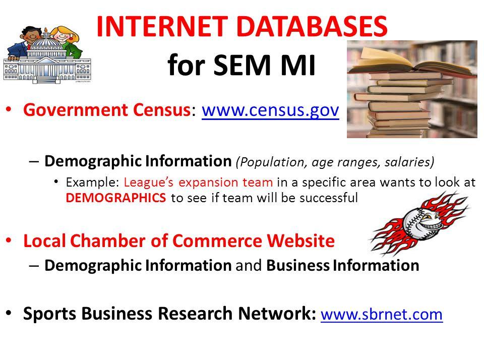 INTERNET DATABASES for SEM MI