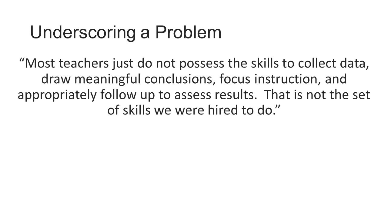 Underscoring a Problem