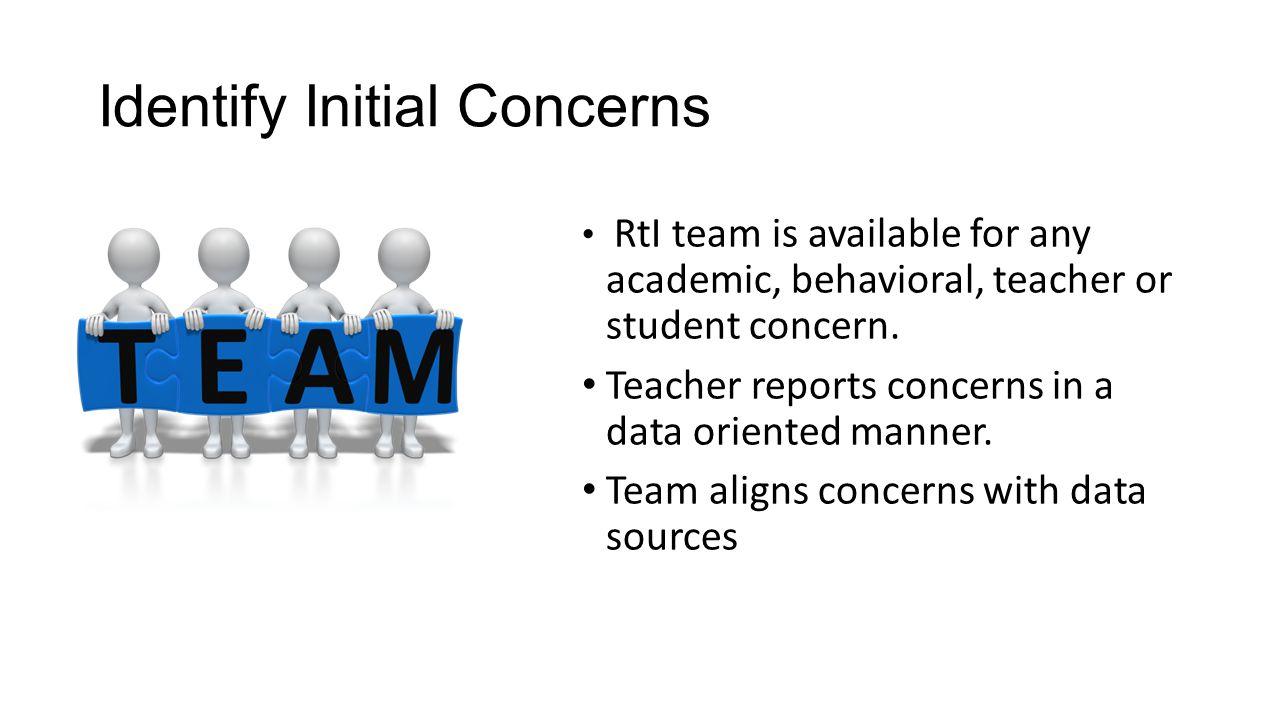 Identify Initial Concerns