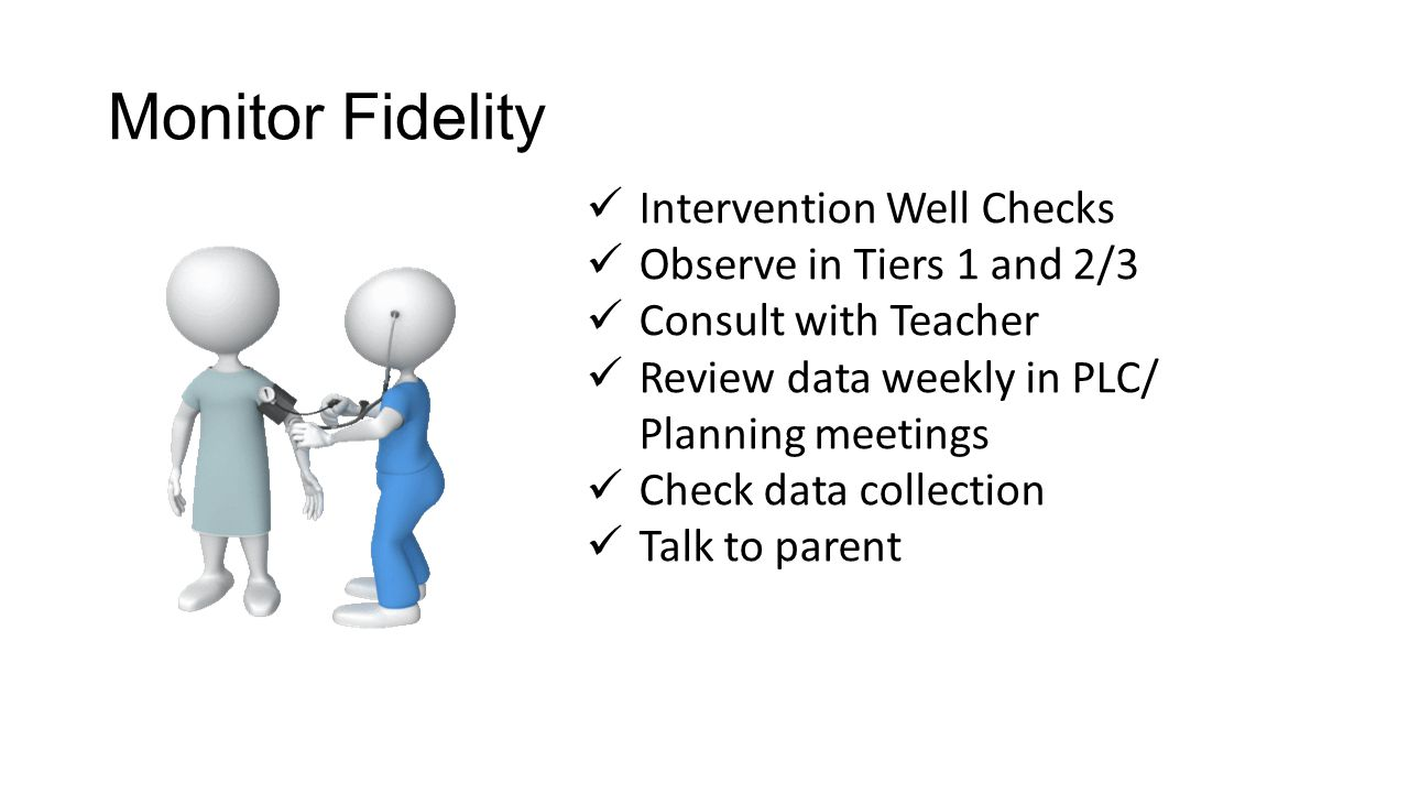 Monitor Fidelity Intervention Well Checks Observe in Tiers 1 and 2/3