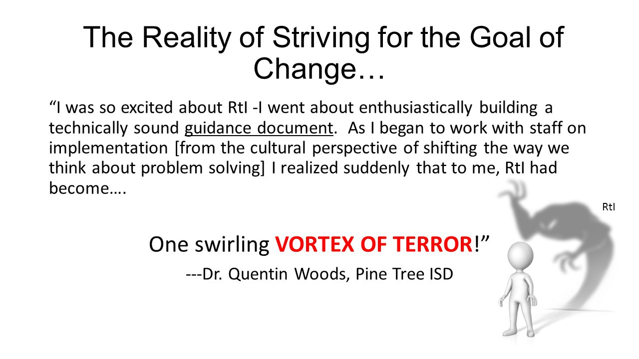 The Reality of Striving for the Goal of Change…