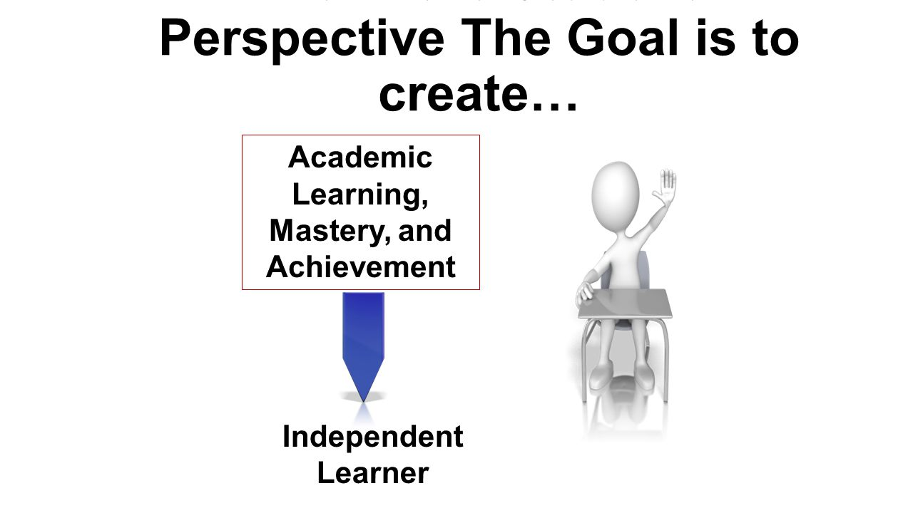 From the Student Perspective The Goal is to create…