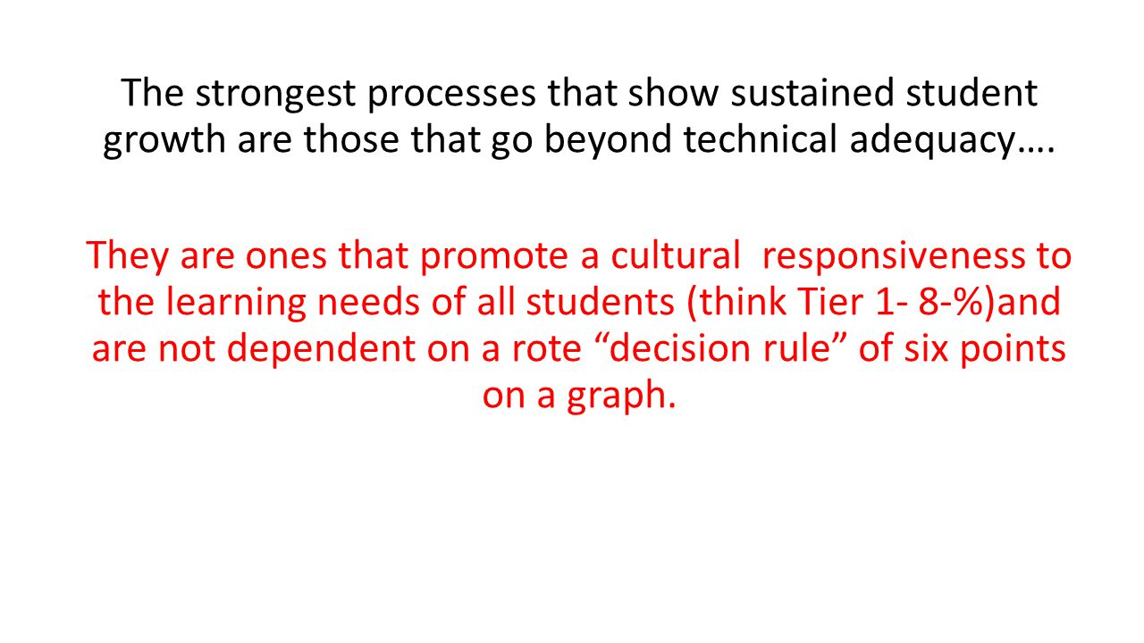 The strongest processes that show sustained student growth are those that go beyond technical adequacy….