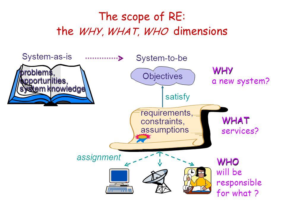 The scope of RE: the WHY, WHAT, WHO dimensions
