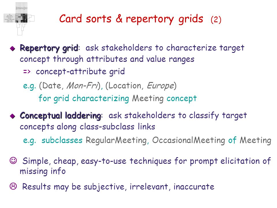 Card sorts & repertory grids (2)