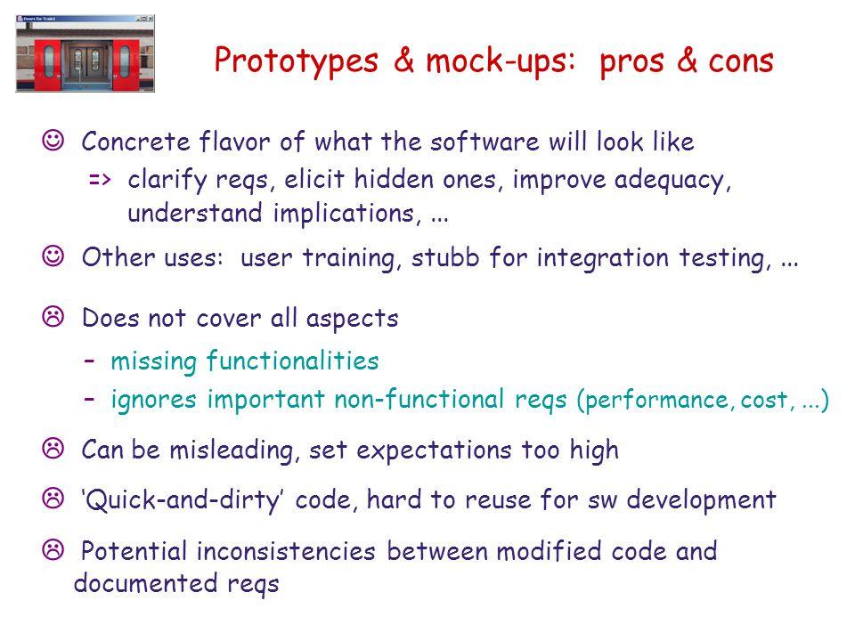 Prototypes & mock-ups: pros & cons