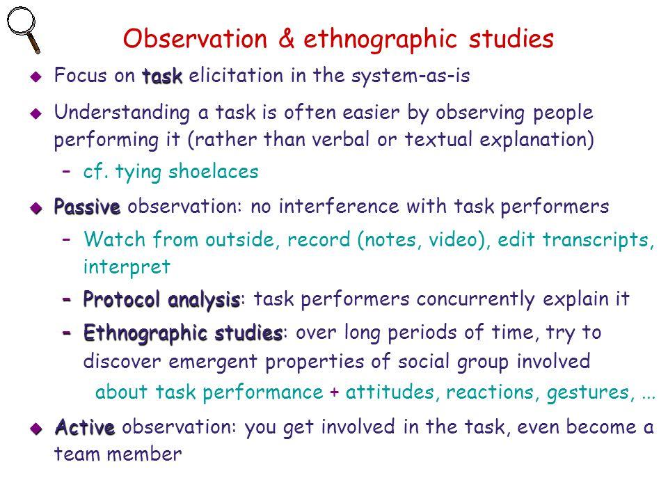 Observation & ethnographic studies