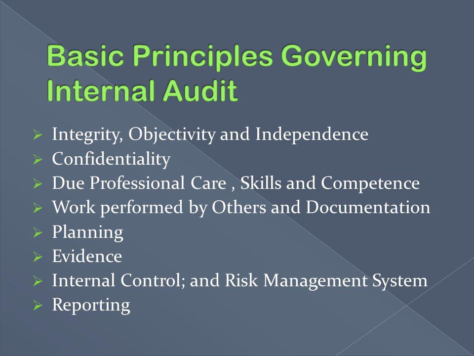Basic Principles Governing Internal Audit