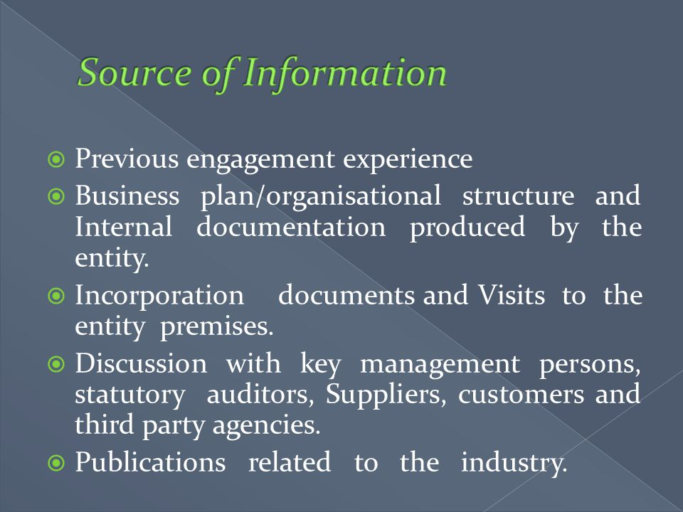 Source of Information Previous engagement experience