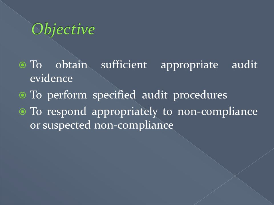 Objective To obtain sufficient appropriate audit evidence