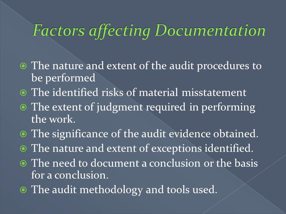 Factors affecting Documentation
