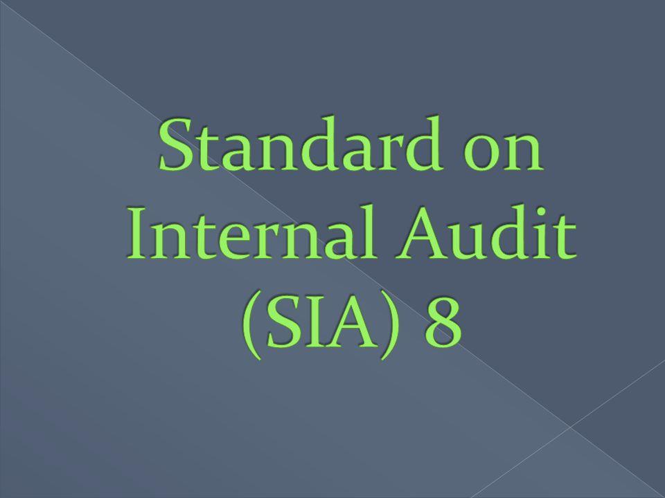 Standard on Internal Audit (SIA) 8