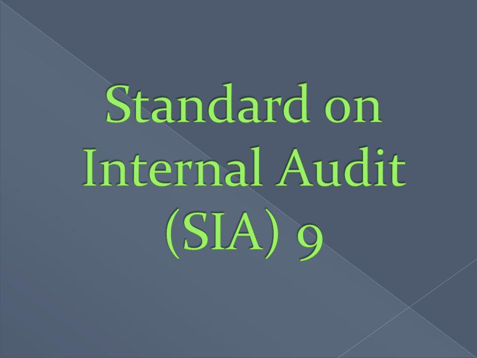 Standard on Internal Audit (SIA) 9